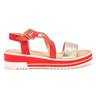 Sandały na platformie 3191733 Rosso-001-001474-20