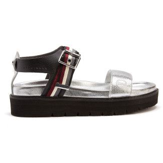 Sandały na platformie Maggie 404 Black/Silver-001-001530-20