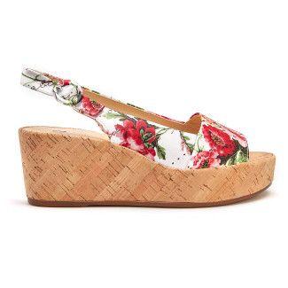 Sandały na koturnie Seaside 7-103216 Weiss-001-001501-20