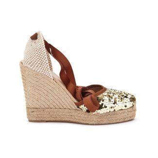 Sandały na koturnie Lapisa Oro-000-011784-20
