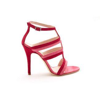 Sandały damskie na obcasie APIA Serra Glicne/Rosa