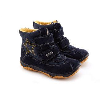 Botki dziecięce ocieplane Ankle Boots NATURINO Freestyle Bleu