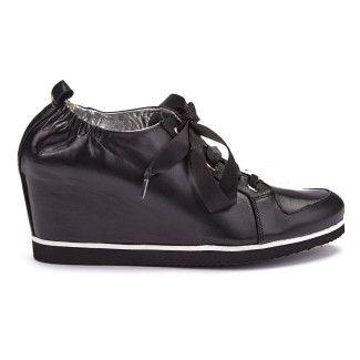 Sneakersy damskie na koturnie APIA Inka Nero