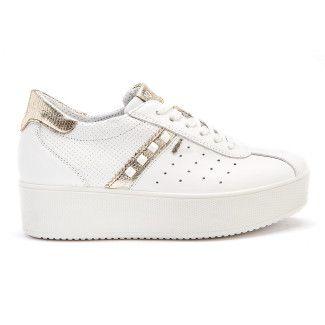 Sneakersy damskie na platformie IGI&CO 3155811 Bianco