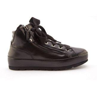 Botki damskie ocieplane sneakersy APIA Spindl 02 Nero