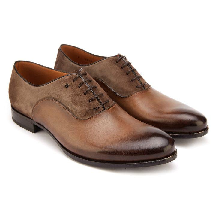 047109d5 Półbuty męskie brązowe - wyjątkowe obuwie - APIA