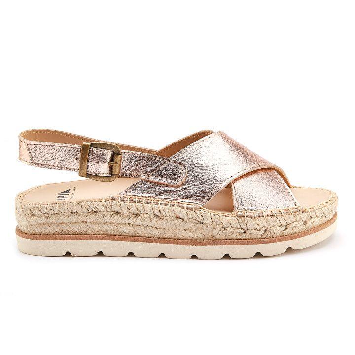 3789f689e7bb33 Damskie sandały na koturnie złote - wyjątkowe obuwie - APIA