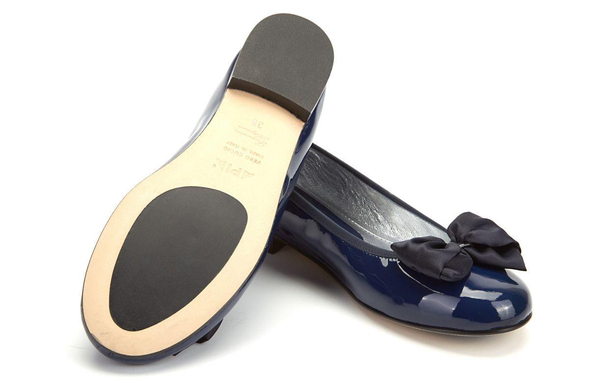 Baleriny APIA Primabalerina Vernice Blu