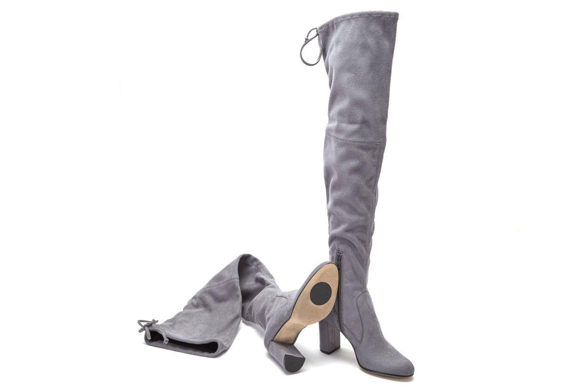 Kozaki damskie za kolano APIA Long 2016 Strech Grey