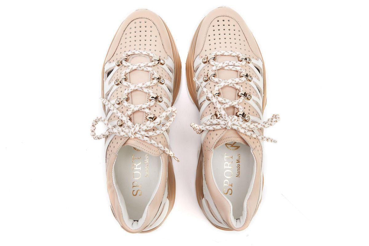 Sneakersy damskie na platformie NANDO MUZI Roundup A297RDP 6040/Bianco