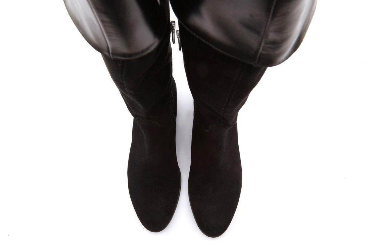 Kozaki damskie za kolano muszkieterki APIA Mosquetero Cam. Nero