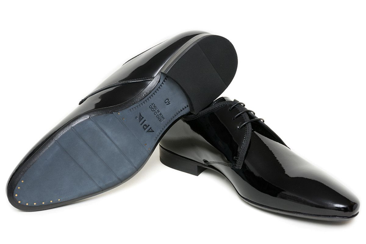 Men's Derby Shoes Apia 3491 Vernice Nero