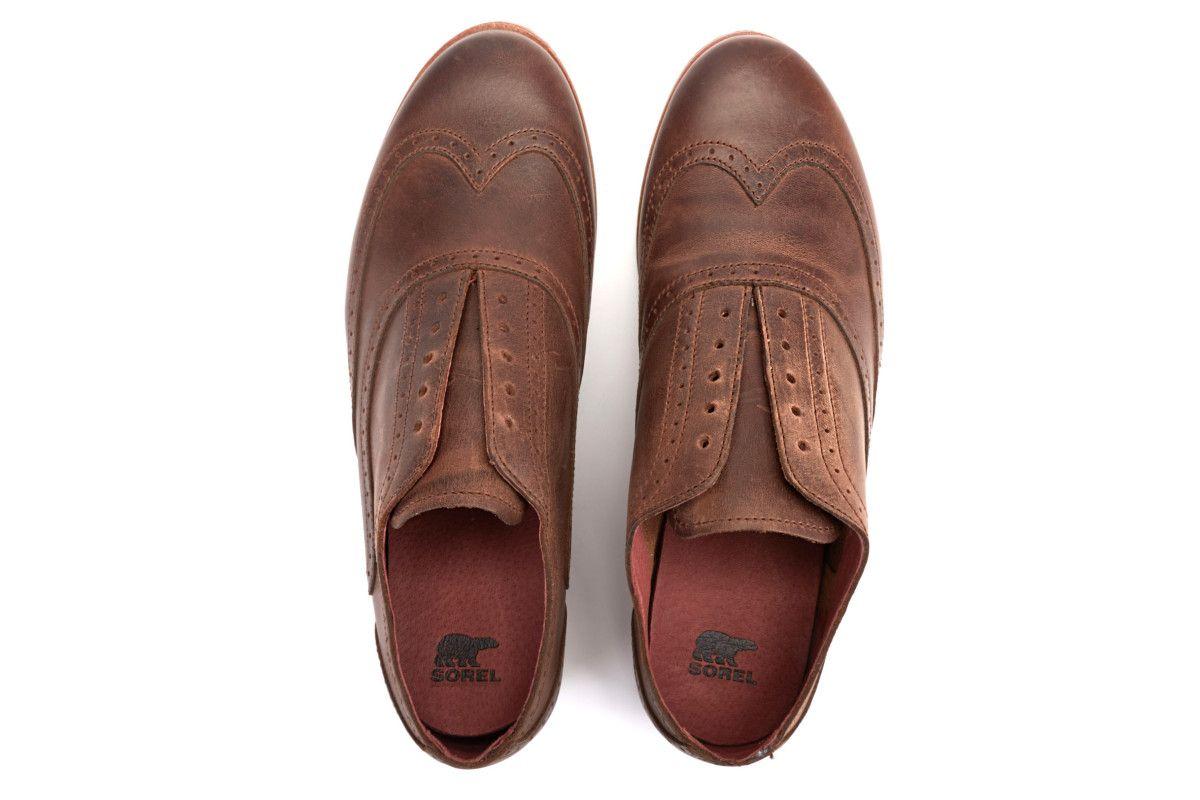 Men's Shoes SOREL Brogue Dark Brown