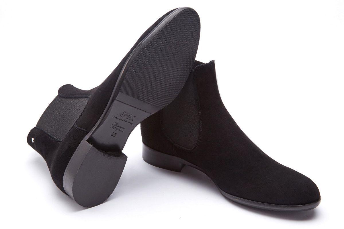 Women's Chelsea Boots APIA Eterna 01 Cam. Nero