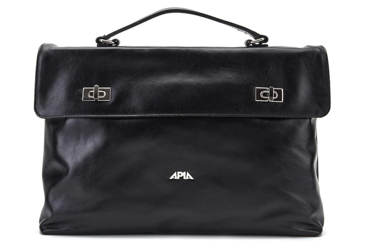 Women's Bag APIA 3472 Vit. Liscio Nero Nk