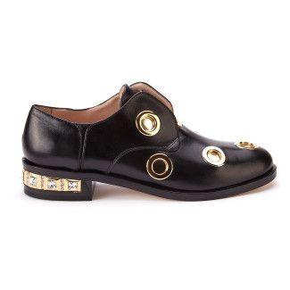 Women's Slip On Shoes Loafers APIA Chiaro Nero