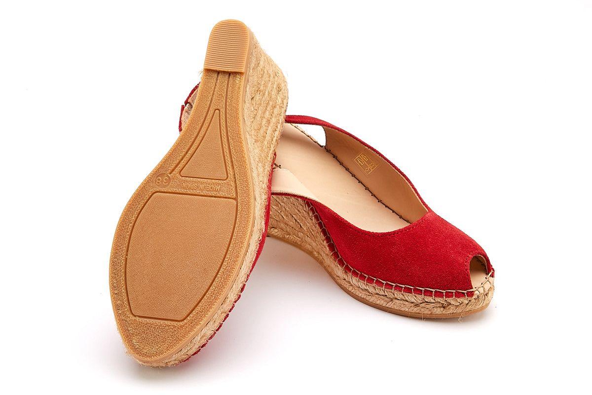 Apia Womens Wedge Sandals Carina Rojo Nl Inside Flats Cariana Navy 38 Peep Toe