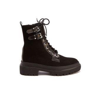 Lace Up Boots Anita 03 Cam. Nero-000-012550-20