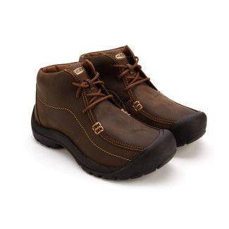Men's Outdoor Lace Up Ankle Boots KEEN Portsmouth Chukka Dark Earth