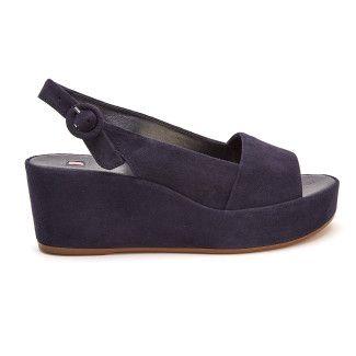 Women's Wedge Sandals HOGL Saint Tropez 7-103202 Blue
