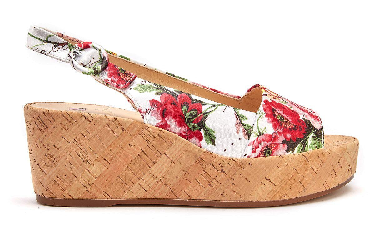 Women's Wedge Sandals HOGL Seaside 7-103216 Weiss