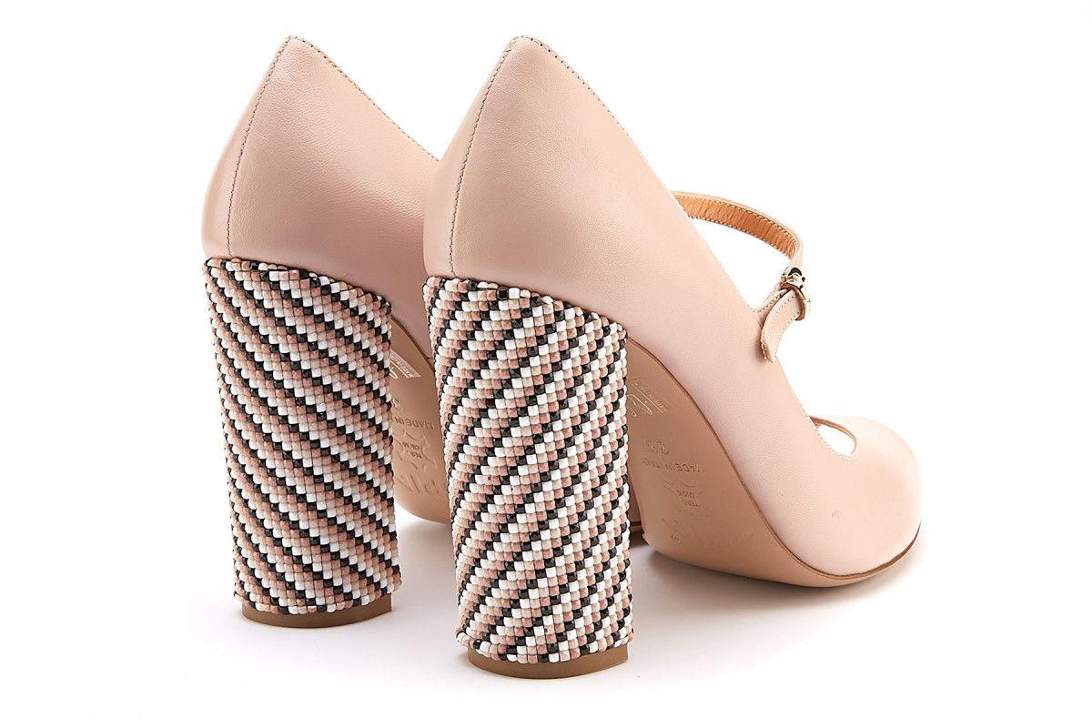 1ae3dcdafe5 Women s Peep Toe Block Heels Pumps APIA Sorrento Cipria Oro - APIA CZ
