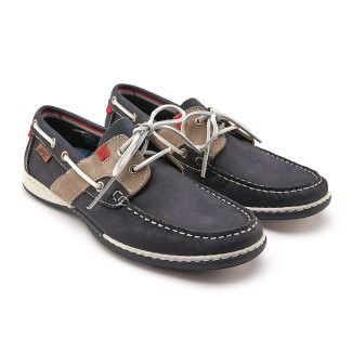 Boat Shoes Nautic 04 Navy/Grey/Red-000-012291-20