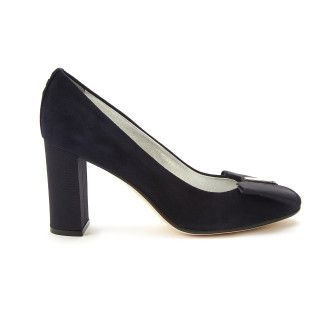 Block Heel Pumps Adele 90 Cam. Navy-000-012152-20