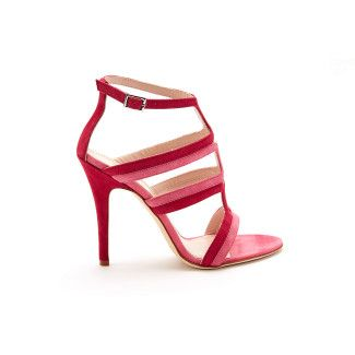 Women's Heeled Sandals APIA Serra Glicne/Rosa