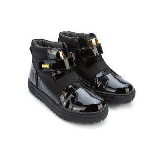 Kid's Ankle Boots NATURINO Gorely Vernice Nero