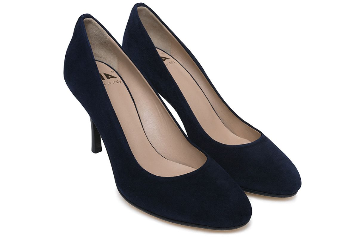 Women's Pumps APIA Adele 75 Camoscio Navy