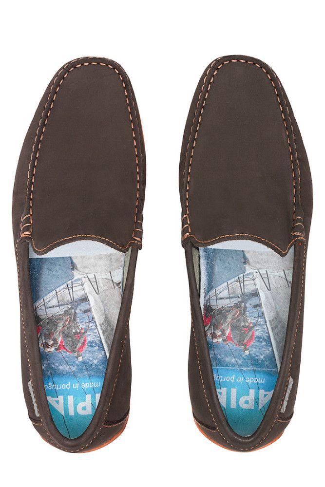 Men's Loafers APIA Nazare 5145 Nl Brown 5606/Stit. Orange