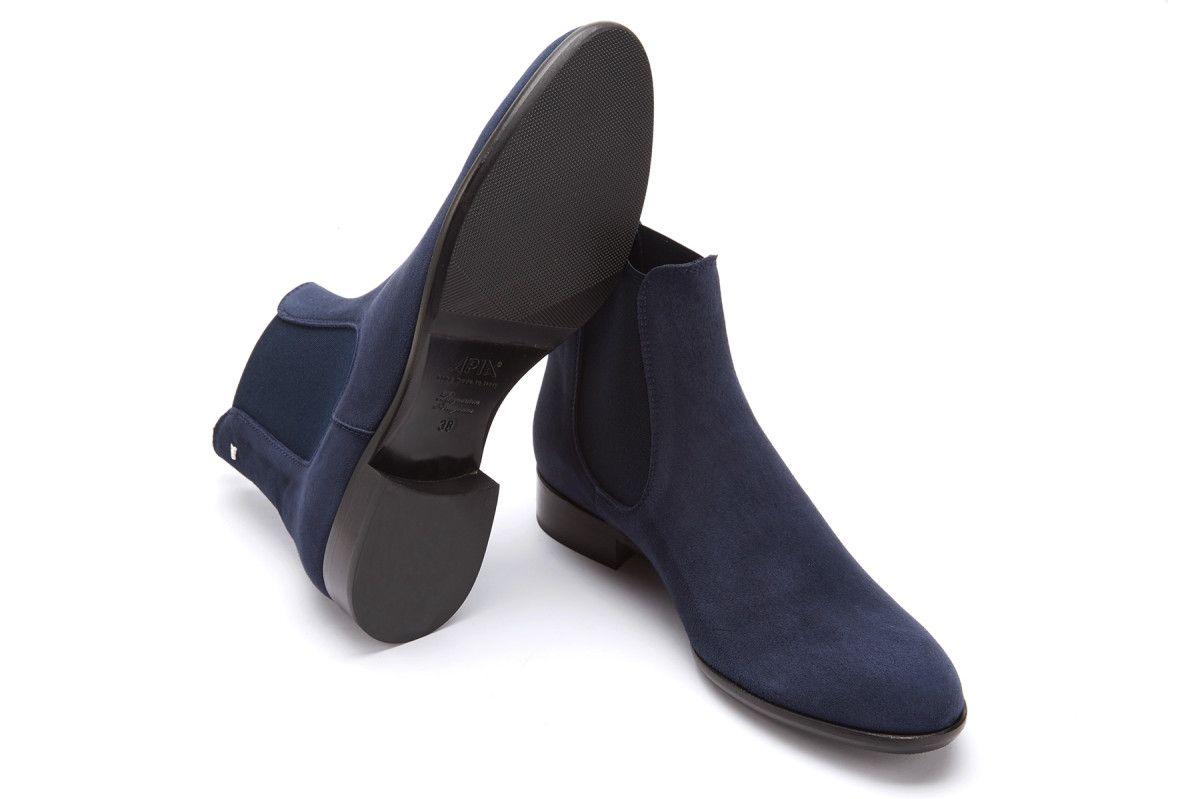 Women's Chelsea Boots APIA Eterna  01 Cam. 341 Blu