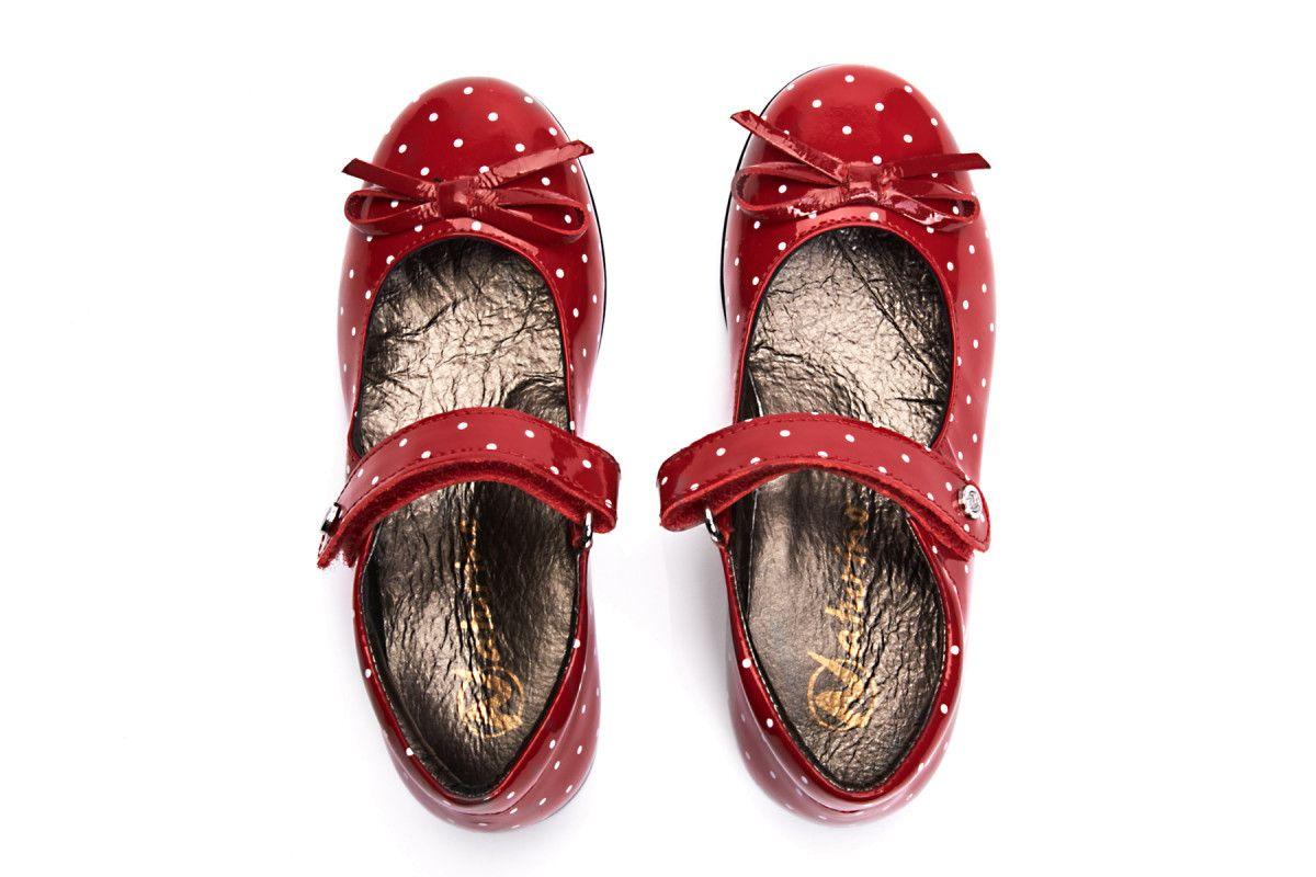 Kid's Ballet Pumps NATURINO 4524 Rosso/Bianco