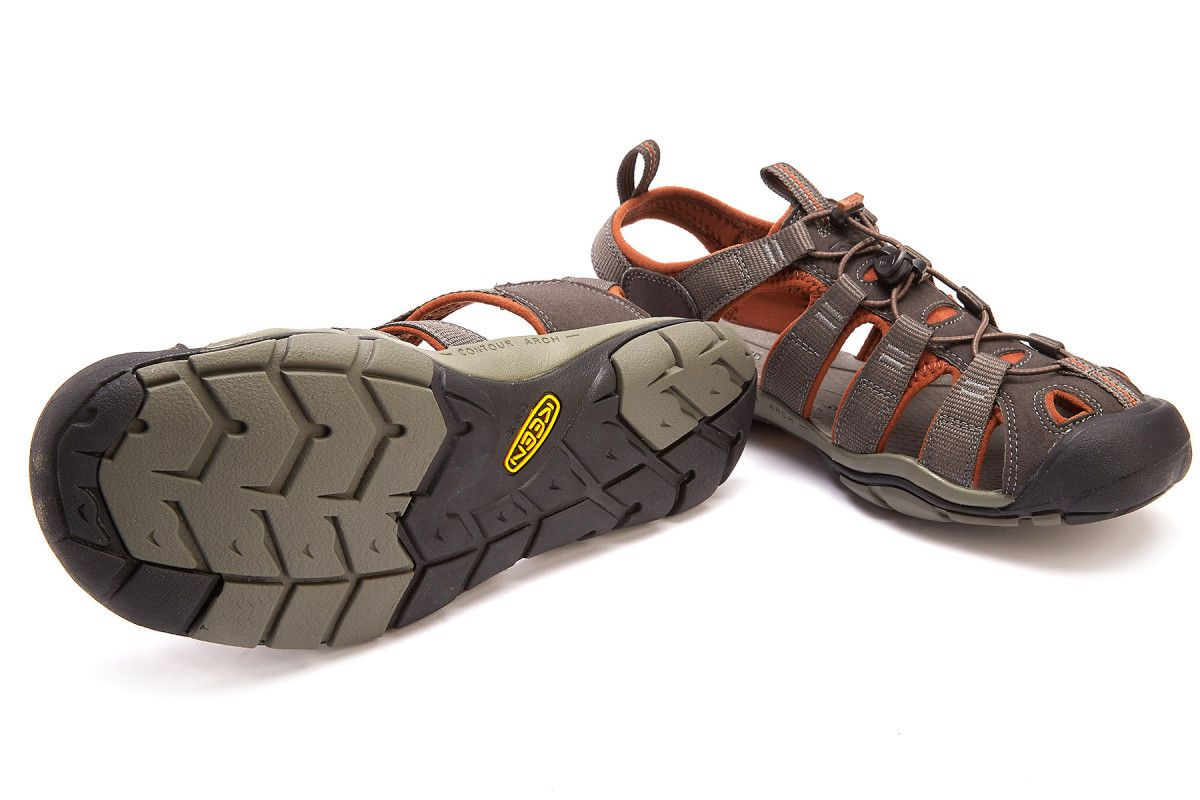 e34df28dbce34 Men's Sport Sandals KEEN Clearwater CNX Raven/Tortoise SH - APIA BE