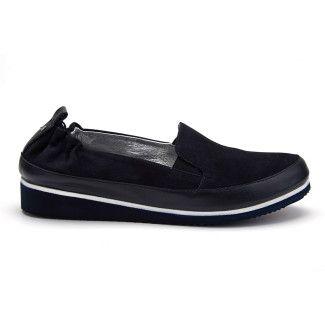 Women's Loafers APIA Pulia Moc Camoscio Nappa Blu