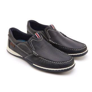 Men's Slip On Shoes APIA Nautic 03 Navy/Red