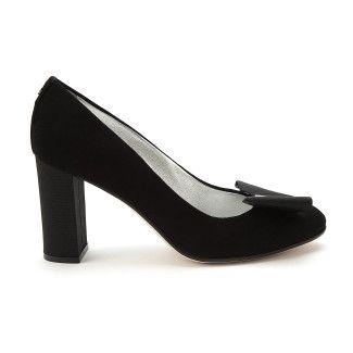 Women's Block Heel Pumps APIA Adele 90 Cam. Nero