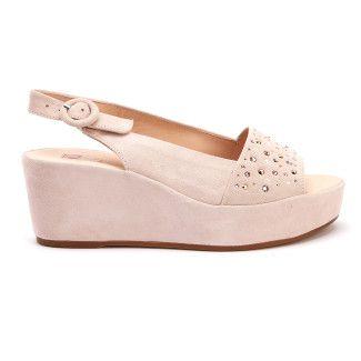Women's Wedge Sandals HOGL Starry 7-103282 Rose