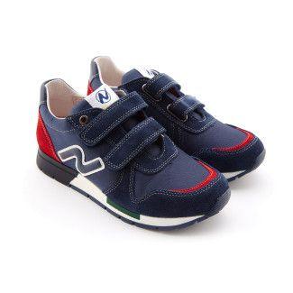 Kid's Sneakers NATURINO Slam Navy Rosso