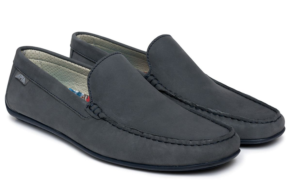 Men's Loafers Apia 5145 Nl Gray 1871/Stit. Blu