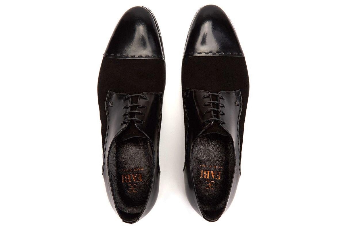 Men's Derby Shoes FABI 8567 Nero