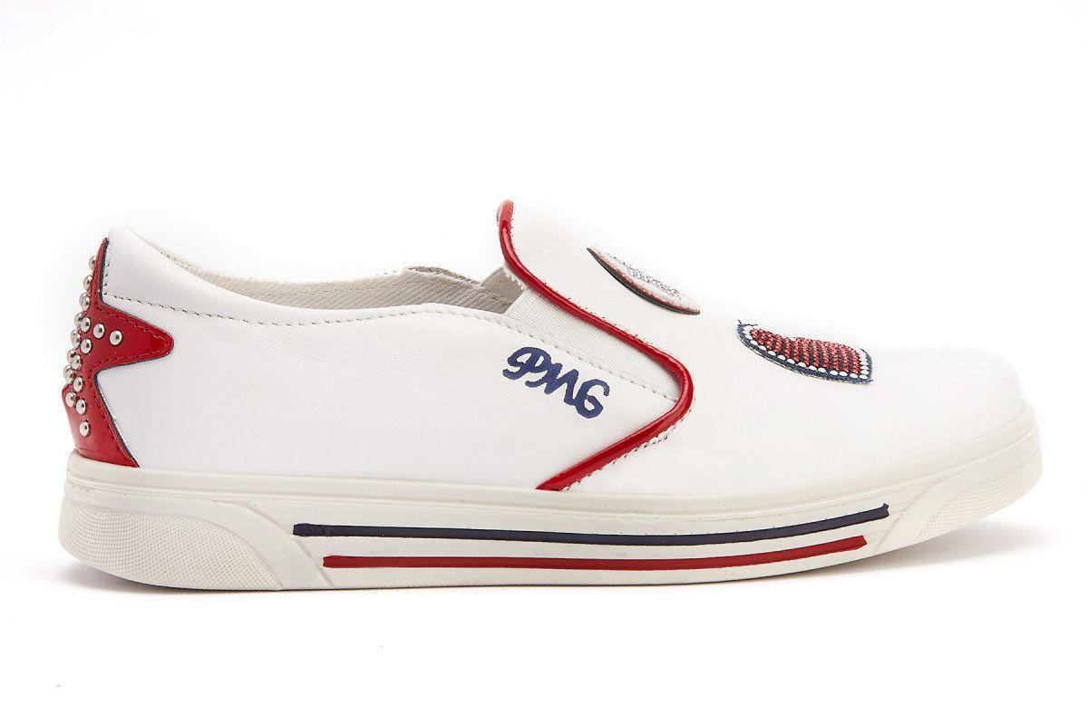 Kid's Slip On Shoes PRIMIGI 3383500 Bianco