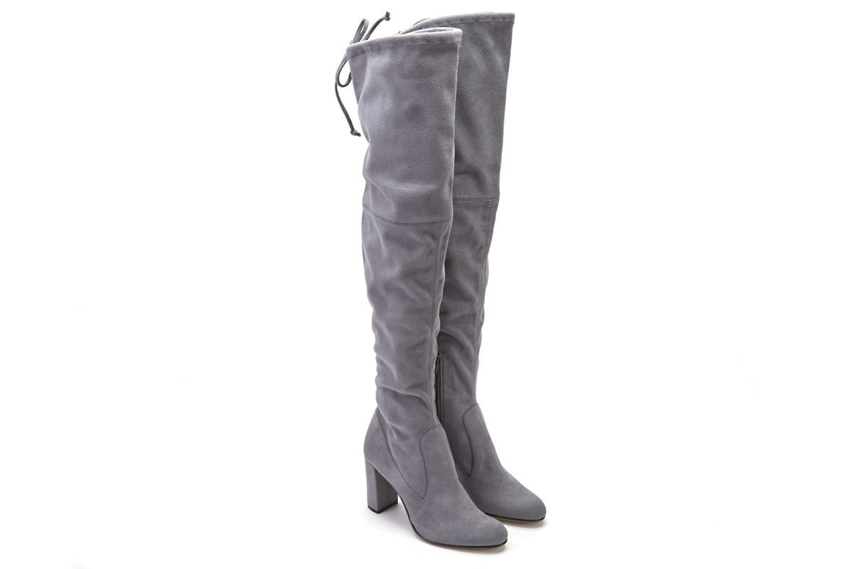 Women's Over The Knee Boots APIA Long 2016 Strech Grey