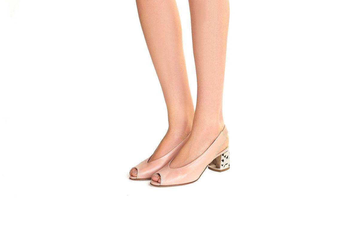 Women's Peep-toe Slingback Pumps APIA Maja O Blush