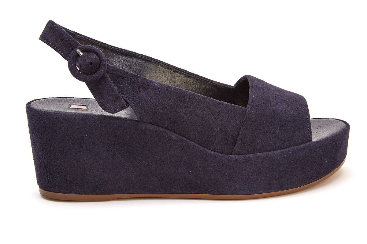 05bcdfc9b9d7e Women's Wedge Sandals HOGL Saint Tropez 7-103202 Blue - Women's ...