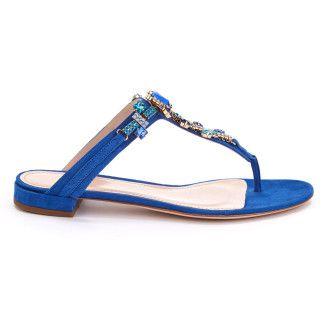 Women's Flip Flop APIA Kris Suede Blue