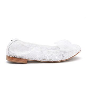 Women's Ballet Pumps APIA Grandbalerina Stardust Bianco