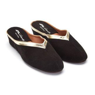 Women's Slippers APIA 4640 Ante Negro Platino
