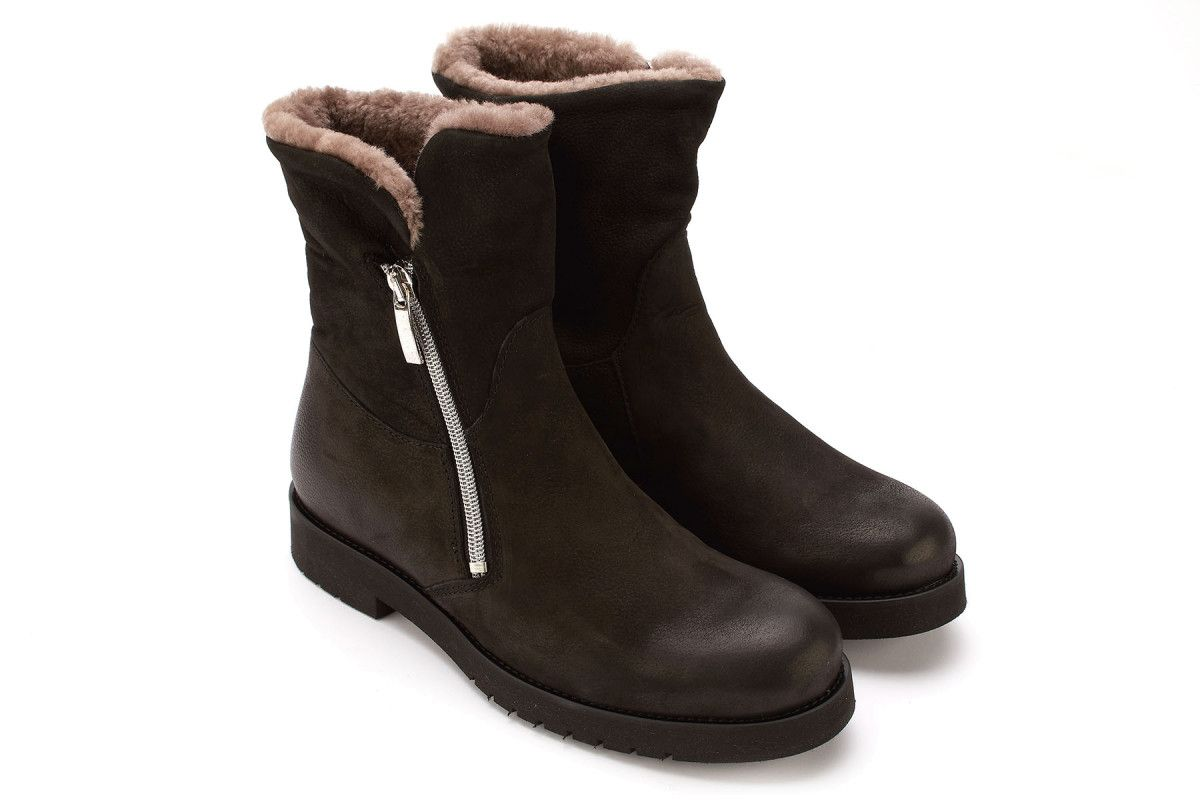Women's Insulated Ankle Boots APIA Atina Nero